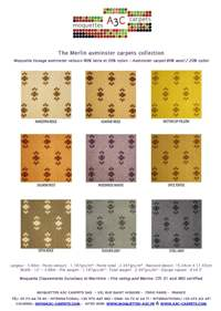 Axminster carpet stock range - The Merlin axminster collection