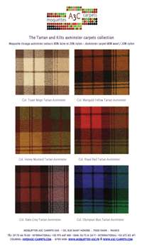 Axminster carpet stock range - The Kilts and Tartans axminster collection