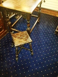 Axminster carpets, Pindots design stock range in 3.66m width - 80% wool and 20% nylon